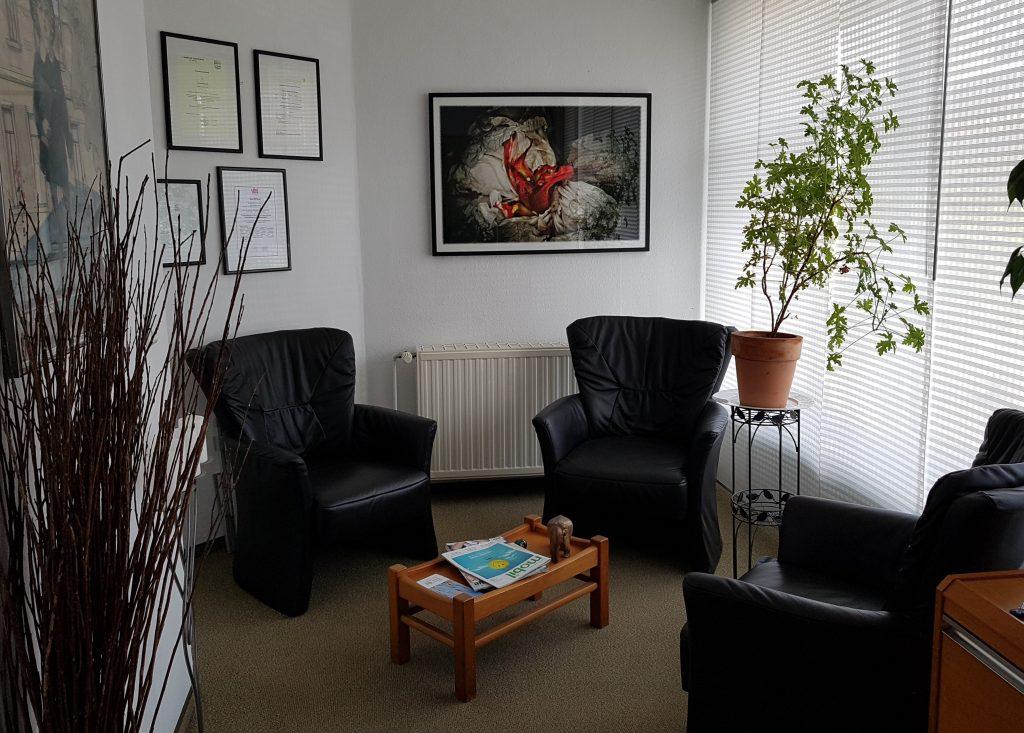 Ein Raum der Ruhe in meiner Praxis für Therapie im geschützten Raum