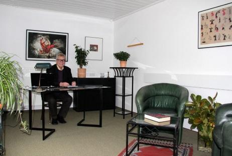 Praxisraum, mein Arbeitszimmer, auch für Therapie im gescützten Raum